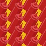 Fastfood van de ketchupfles naadloos patroon De bedelaars van het snel voedselkruiden stock illustratie