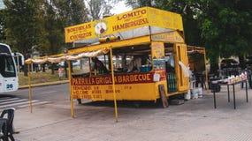 Fastfoodkiosk in Buenos Aires, Argentinien stockbild