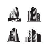 Fastighet - vektorlogoen undertecknar begreppsillustrationer vektor illustrationer