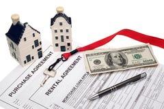 Fastighetaffär och finansiell planläggning Royaltyfri Foto