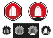 Fastigheten houses logo Royaltyfri Fotografi