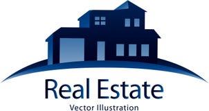 Fastighetlogo royaltyfri illustrationer