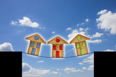 Fastighetmarknadskris Arkivfoton