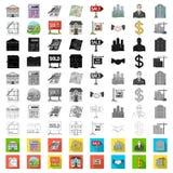 Fastighetsmäklare byråtecknad filmsymboler i uppsättningsamlingen för design Köpa och sälja fastighetvektorsymbol lagerföra rengö royaltyfri illustrationer