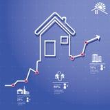 Fastighetsmäklare Infographic Fotografering för Bildbyråer