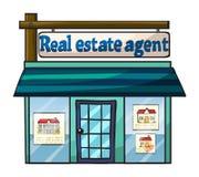 Fastighetsmäklares kontor stock illustrationer