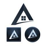 Fastighetsymbolsdesign, isolerade illustrationer Fotografering för Bildbyråer