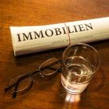 Fastighettidning, exponeringsglas av vatten, exponeringsglas Fotografering för Bildbyråer