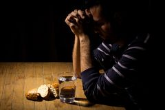 Fasting for bread and water Stock Photo