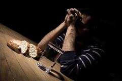 Fasting for bread and water. To strengthen the spirit Royalty Free Stock Photos