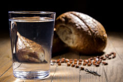 Fasting for bread and water Stock Photos