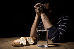 Fasting for bread and water Stock Images
