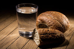 Fasting for bread and water Royalty Free Stock Image