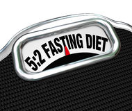 5:2 Fasting Diet Words on Scale Lose Weight Royalty Free Stock Photos