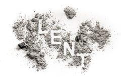 Fastlagenord som är skriftligt i askaen, sand, damm arkivbild