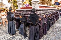 Fastlagenpojkars procession, Antigua, Guatemala Royaltyfria Foton