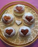 Fastlags bullar broodjes met room Royalty-vrije Stock Fotografie