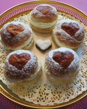 Fastlags bullar broodjes met room Royalty-vrije Stock Foto