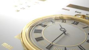 Fastmoving tolkning 3D för klocka stock illustrationer