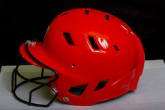 Fastpitch与面具的垒球盔甲 免版税库存照片