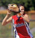 fastpitch dziewczyn midget Saskatoon weber1 Fotografia Royalty Free