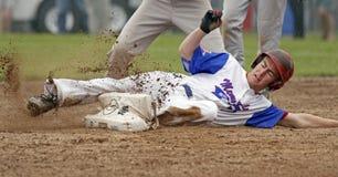 fastpitch mężczyzna gracza obruszenia softball Obrazy Stock