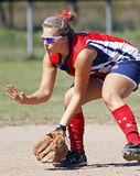 Fastpitch midget girls saskatoon shortstop Royalty Free Stock Photo