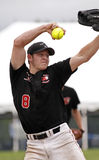 Fastpitch softball men pitcher Stock Photography