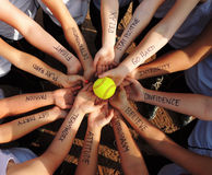Fastpitch-Softball-Motivations-Kreis stockfotos