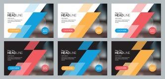 Fastställd abstrakt bakgrundsmalldesign för social massmediastolpe och rengöringsdukbanerbegrepp royaltyfri illustrationer