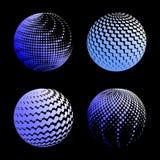 Fastställd abstrakt halvton 3D spheres_1 Fotografering för Bildbyråer