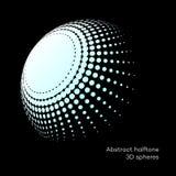 Fastställd abstrakt halvton 3D spheres_8 Royaltyfria Bilder
