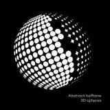 Fastställd abstrakt halvton 3D spheres_9 Royaltyfri Foto