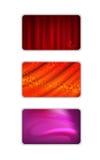 Fastställd abstrakt röd signalgardinbakgrund Royaltyfri Bild