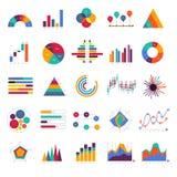 Fastställd affärsgraf för vektor och infographic diagram för diagram Plan de vektor illustrationer