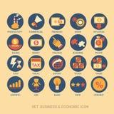 Fastställd affärsstrategi för symbol och affärsplan Arkivbilder