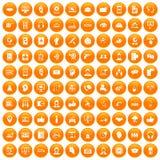 fastställd apelsin för 100 symboler för appellmitt vektor illustrationer