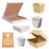 Fastställd ask för din design och logo stock illustrationer