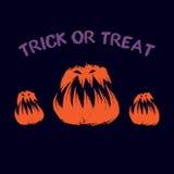 Fastställd av ondo pumpa Halloween deltagare stock illustrationer