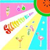 Fastställd bakgrund för sommar royaltyfri illustrationer