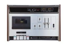 Retro stereo- kassett-corder Arkivbild