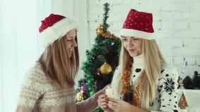 Fastställd brand på julljuset lager videofilmer