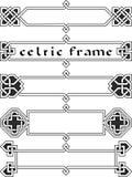 Fastställd celtic ram Royaltyfri Fotografi