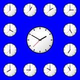 Fastställd design EPS10 för illustration för klockasymbolsvektor Arkivbild