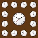 Fastställd design EPS10 för illustration för klockasymbolsvektor Royaltyfri Foto