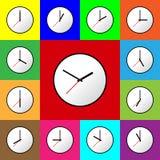 Fastställd design EPS10 för illustration för klockasymbolsvektor Arkivfoton