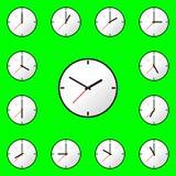 Fastställd design EPS10 för illustration för klockasymbolsvektor Royaltyfria Foton