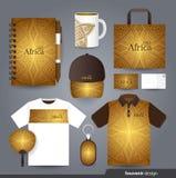 Fastställd design för brevpapper/fastställd mall för gåva royaltyfri illustrationer