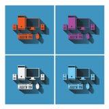 Fastställd design för datorsymboler, illustrationvektor Royaltyfria Foton