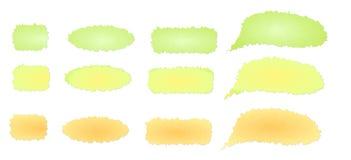 Fastställd färgrik beståndsdel för vårbanerdesign Arkivbild